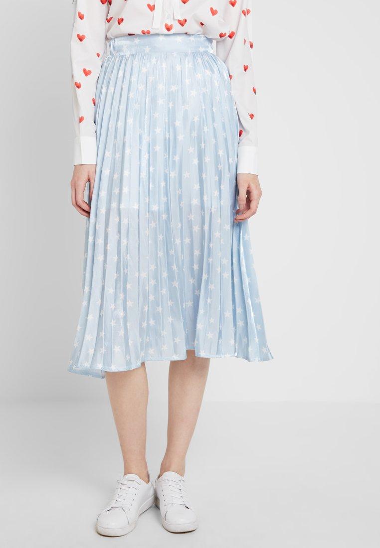 Sister Jane - PLEATED SKIRT IN SHIMMER STAR - A-line skirt - light blue/white