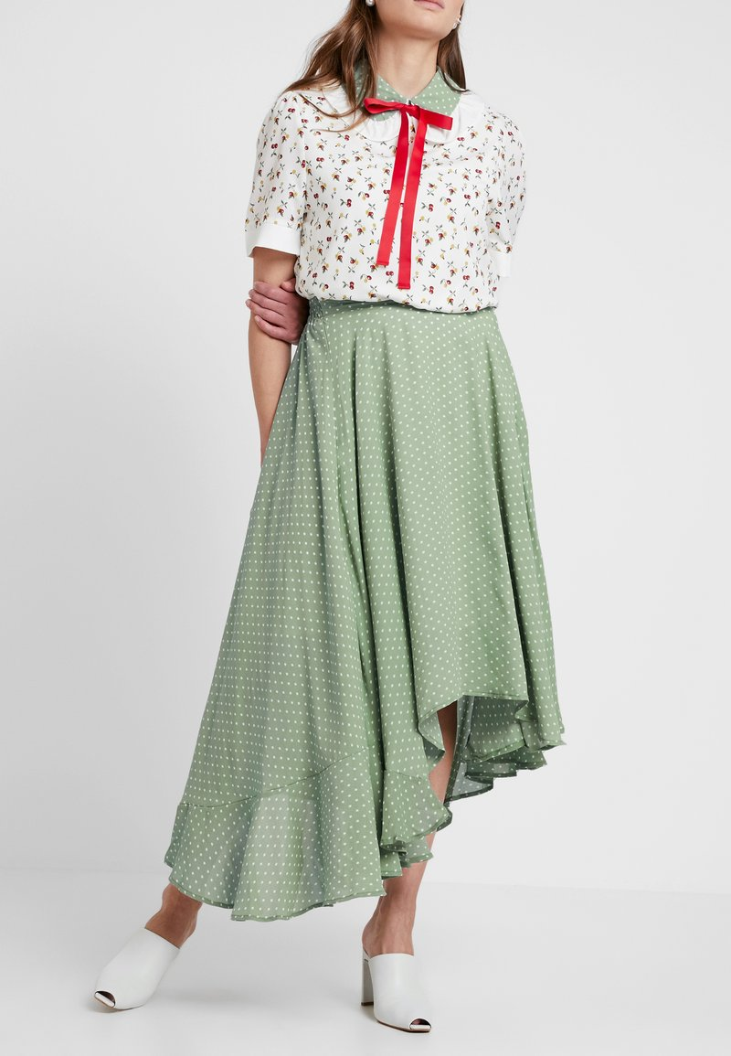 Sister Jane - HERBAGE BUTTERFLY SKIRT - Maxi skirt - green