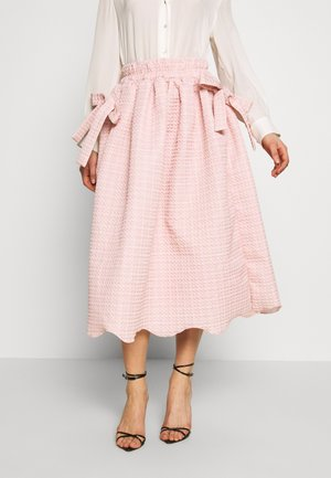 ROSY RAY MIDI SKIRT - A-snit nederdel/ A-formede nederdele - pink