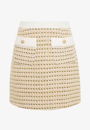 BIRD SONG MINI SKIRT - Áčková sukně - yellow