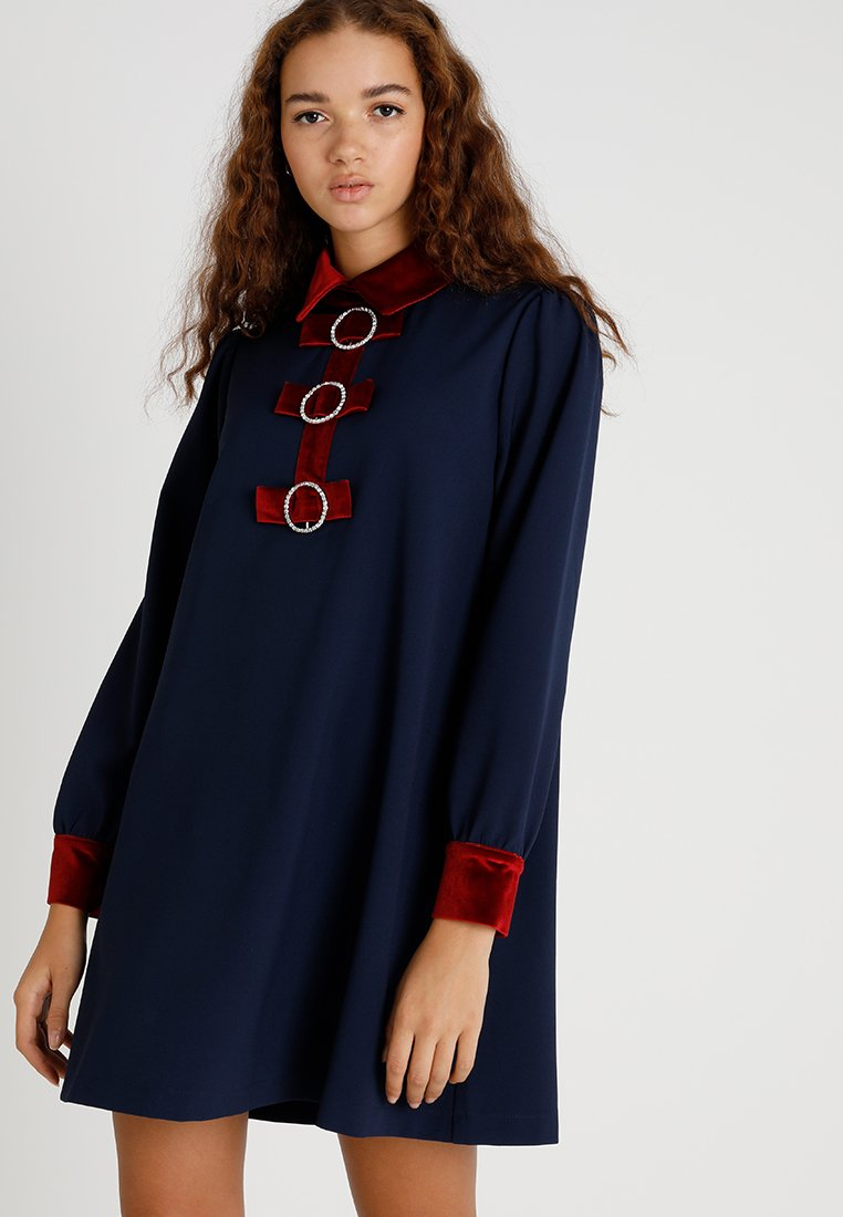 Sister Jane - RINGMASTER COVEN DRESS - Shirt dress - navy