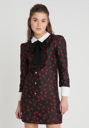 THE ROSE RABBIT DRESS - Košilové šaty - black