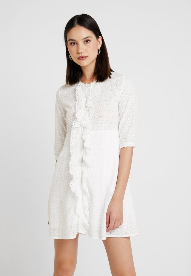 PRECIOUS PETAL MINI DRESS - Skjortklänning - ivory