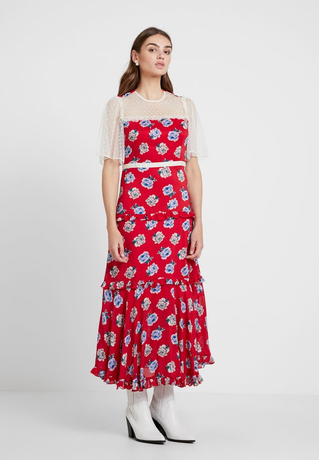 BLOOMING BESS DRESS - Długa sukienka - red