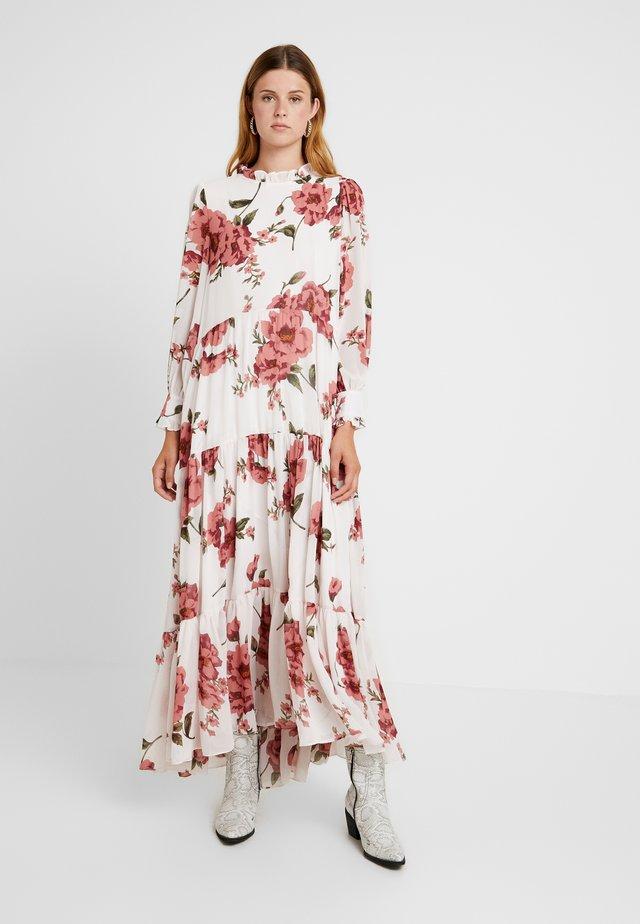 PITCH PRETTY TIERED DRESS - Długa sukienka - ivory