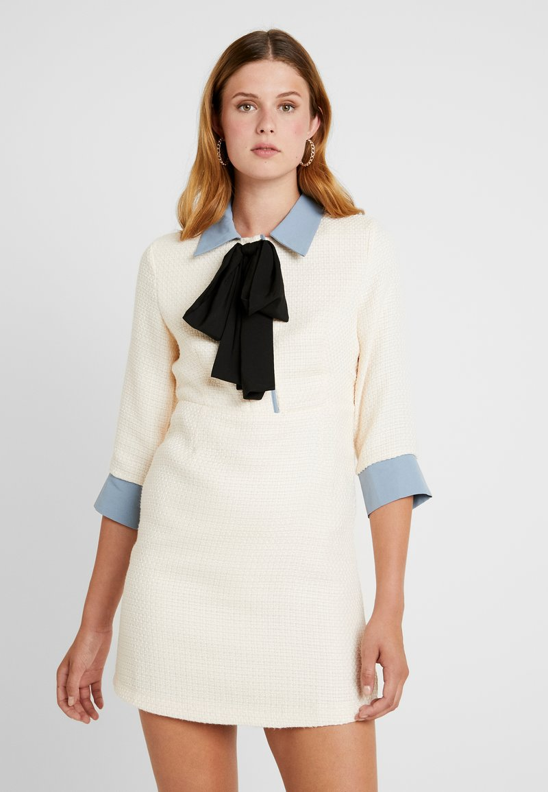 Sister Jane - TREAD TWEED MINI DRESS - Skjortklänning - cream
