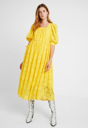 BURNING BRIGHT MIDI DRESS - Maxi-jurk - yellow