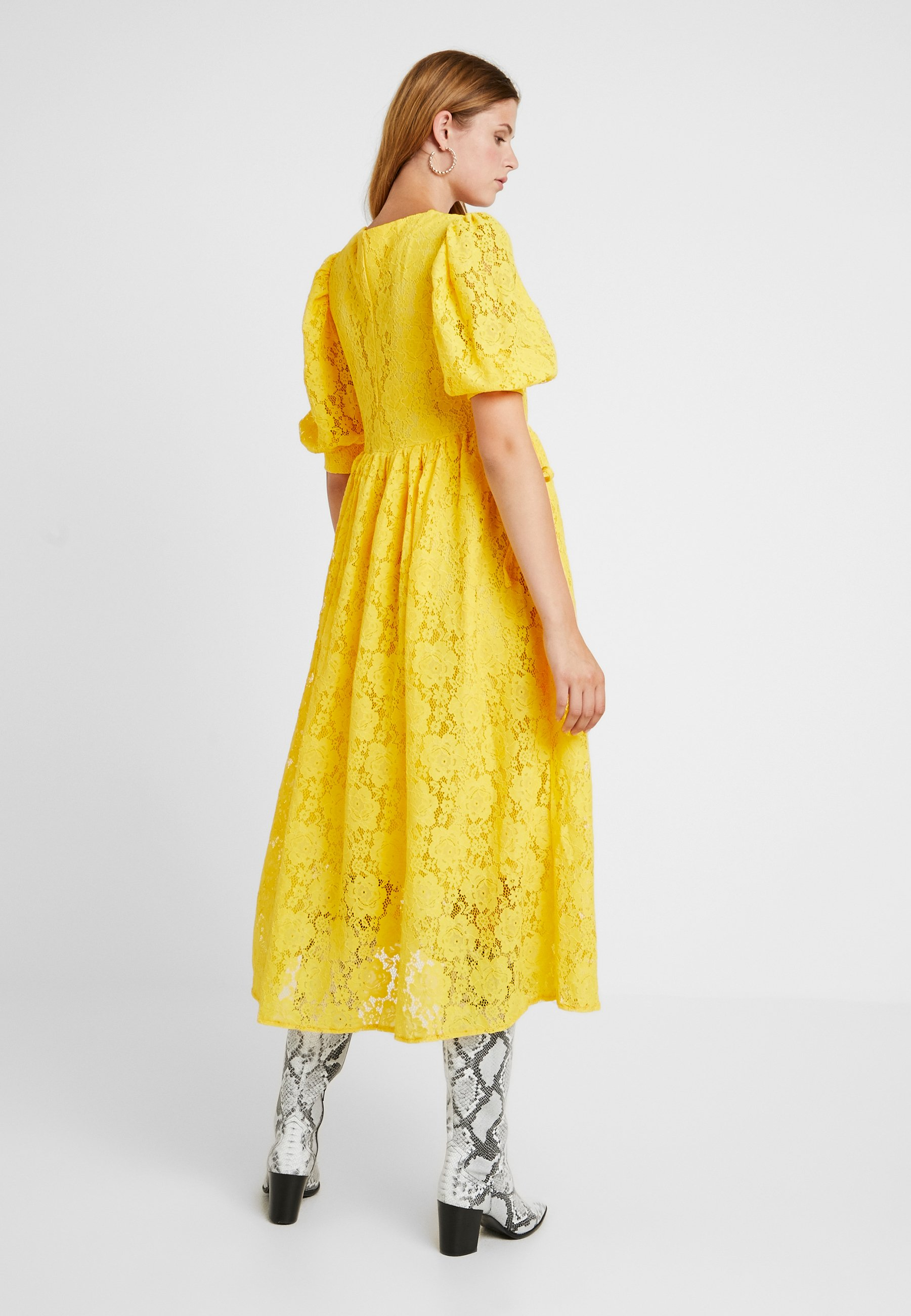 Yellow Jane Longue DressRobe Midi Burning Bright Sister rWCoedBx