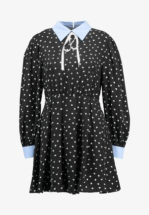 FONDNESS MINI SKATER DRESS - Blousejurk - black/white