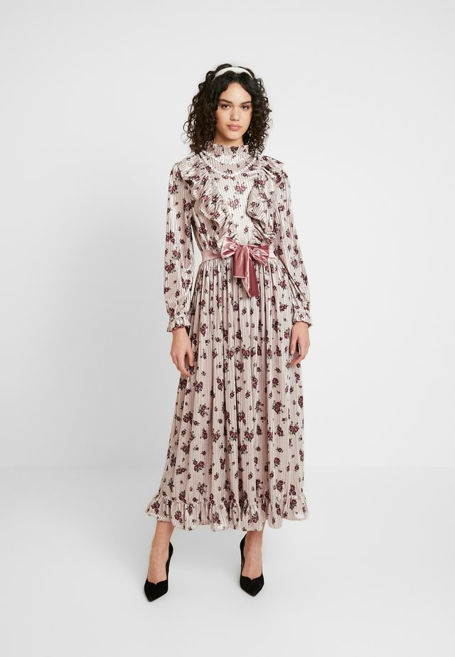 JOSEPHINE VELVET MIDI DRESS - Galajurk - cream