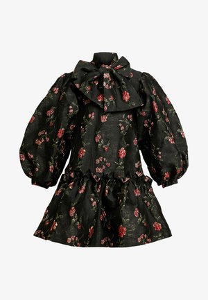 MOON FLOWER OVERSIZED MINI DRESS - Juhlamekko - black