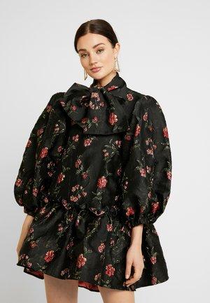 MOON FLOWER OVERSIZED MINI DRESS - Robe de soirée - black