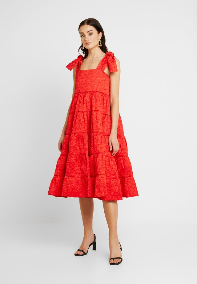 LIKELY LADY ROSE MIDI DRESS - Cocktailjurk - red