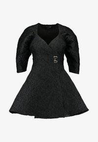 Sister Jane - MIDNIGHT MINI WRAP DRESS - Sukienka koktajlowa - black - 5