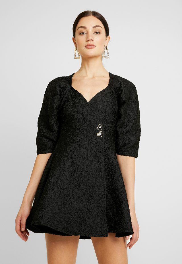 MIDNIGHT MINI WRAP DRESS - Cocktailjurk - black