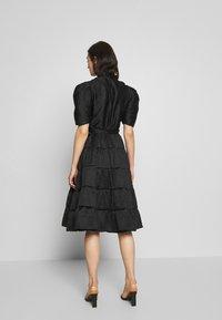 Sister Jane - BACCARA ROSE WRAP DRESS - Korte jurk - black - 2