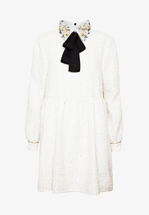SNOWDROP TWEED SMOCK DRESS - Cocktailklänning - ivory