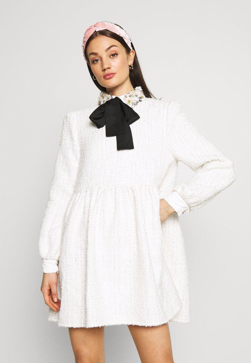 Sister Jane - SNOWDROP TWEED SMOCK DRESS - Juhlamekko - ivory