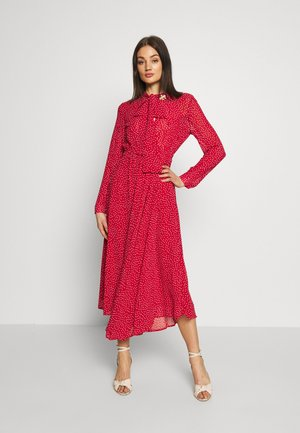 FLUTTER DOT DRESS - Korte jurk - red