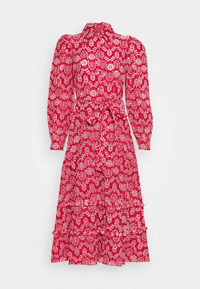 MIDI DRESS - Shirt dress - red
