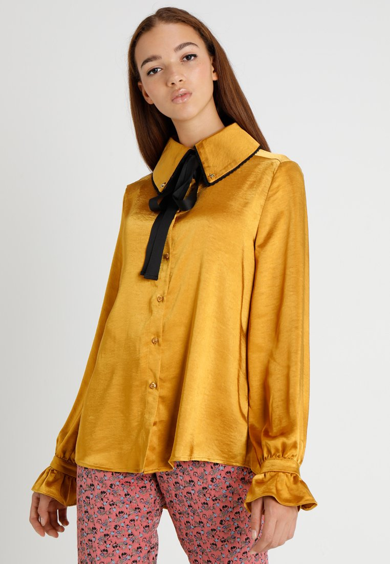 Sister Jane - LUMINUS BLOUSE - Button-down blouse - yellow