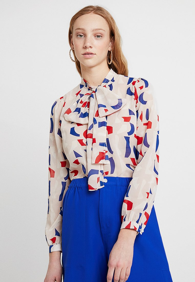 Sister Jane - BOW BLOUSE IN ABSTRACT PRINT - Blusa - multi