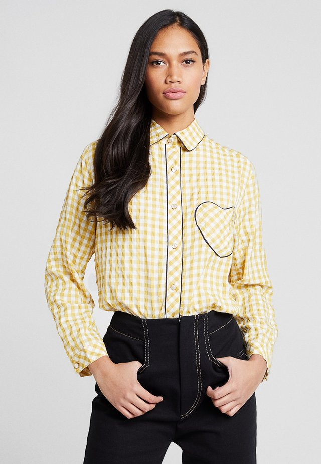 GINGHAM HEART - Hemdbluse - yellow/white