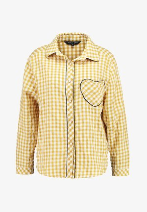 GINGHAM HEART - Button-down blouse - yellow/white