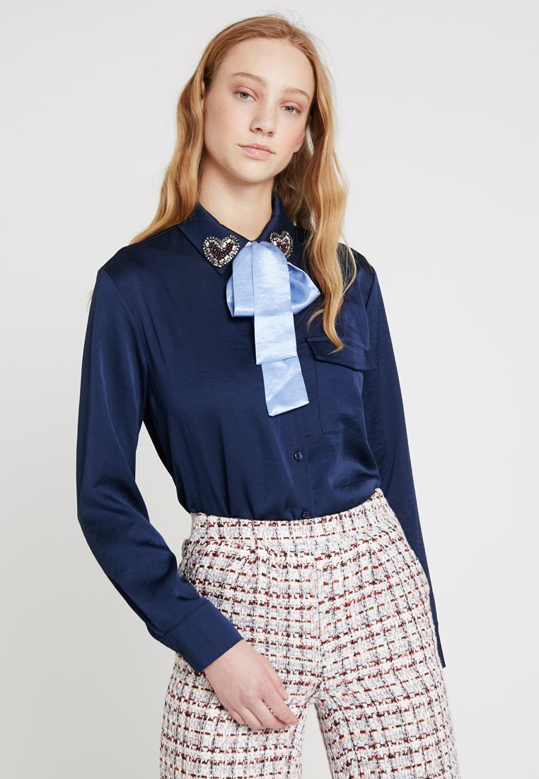 Sister Jane - HEART COLLAR - Blouse - blue