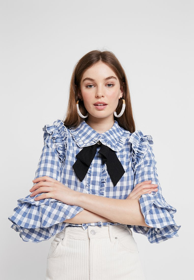 Sister Jane - TABLE MANNERS RUFFLE BLOUSE - Bluse - blue