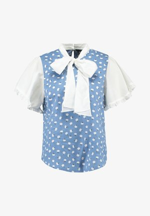 JASMINE BOW BLOUSE - Blouse - blue