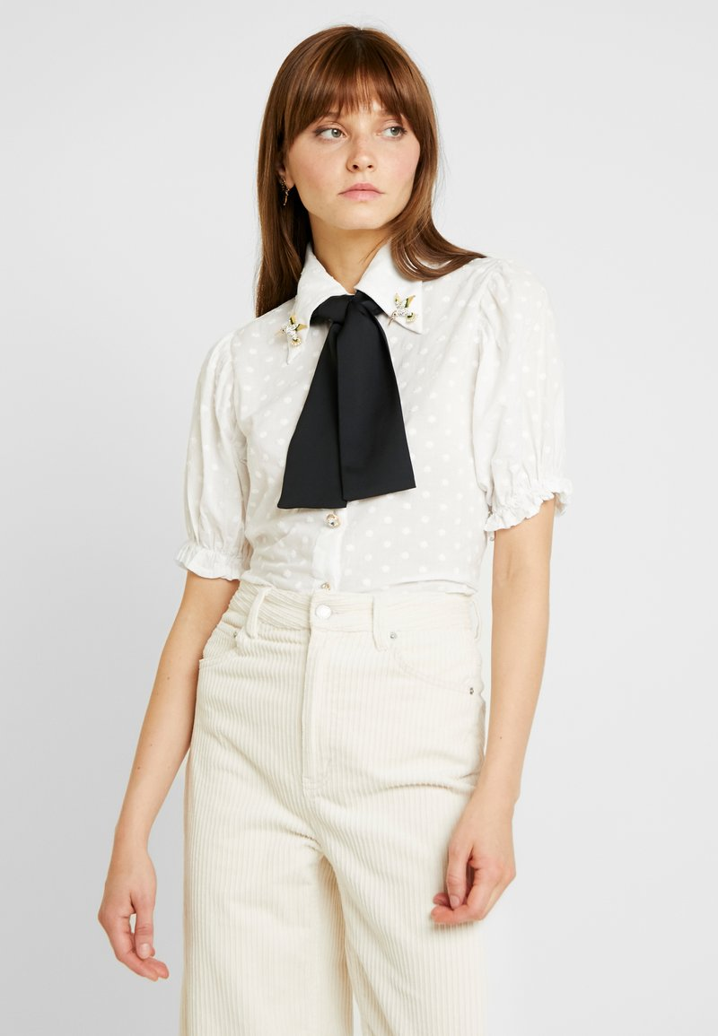 Sister Jane - PRECIOUS PETAL BLOUSE - Button-down blouse - ivory