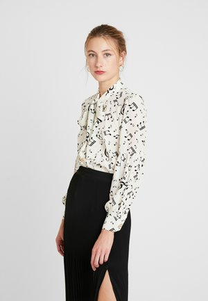 NOTES BOW BLOUSE - Blouse - ivory