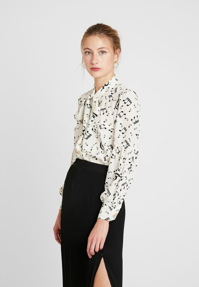 NOTES BOW BLOUSE - Bluser - ivory