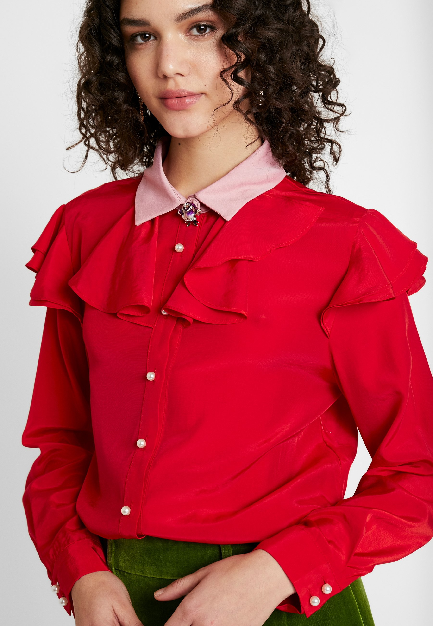 Sister Jane QUARTERS RUFFLE - Koszula - pink