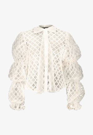 PILLOW PUFF BOW BLOUSE - Blusa - ivory