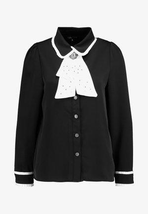 CLOSET CRAVAT RUFFLE - Camisa - black