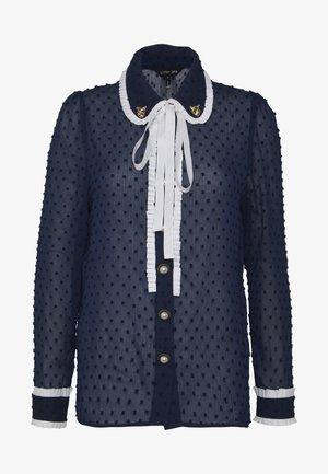 CUB RUFFLE SHIRT - Camisa - navy blue