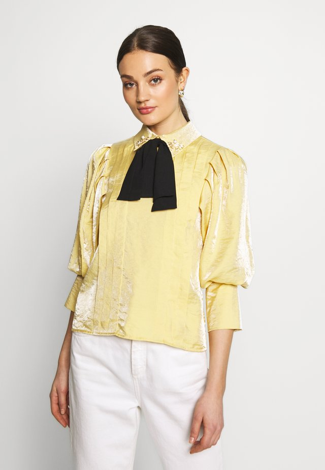 SUNSHINE BOW BLOUSE - Bluser - yellow
