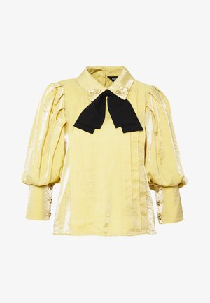 SUNSHINE BOW BLOUSE - Blusa - yellow