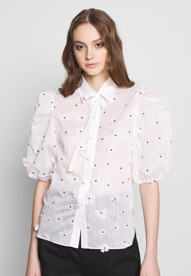 POSY PUFF SLEEVE BLOUSE - Skjorte - white