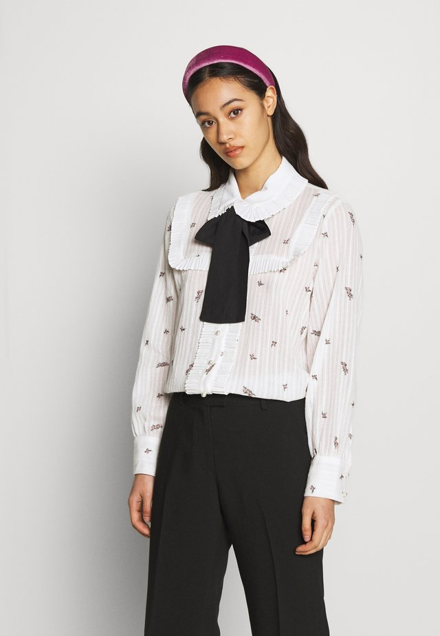 REEL ROSES BOW - Button-down blouse - ivory