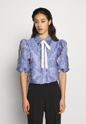 AWARD PUFF SLEEVE SHIRT - Blusa - blue