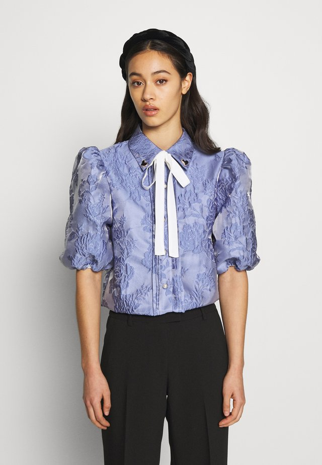 AWARD PUFF SLEEVE SHIRT - Blus - blue