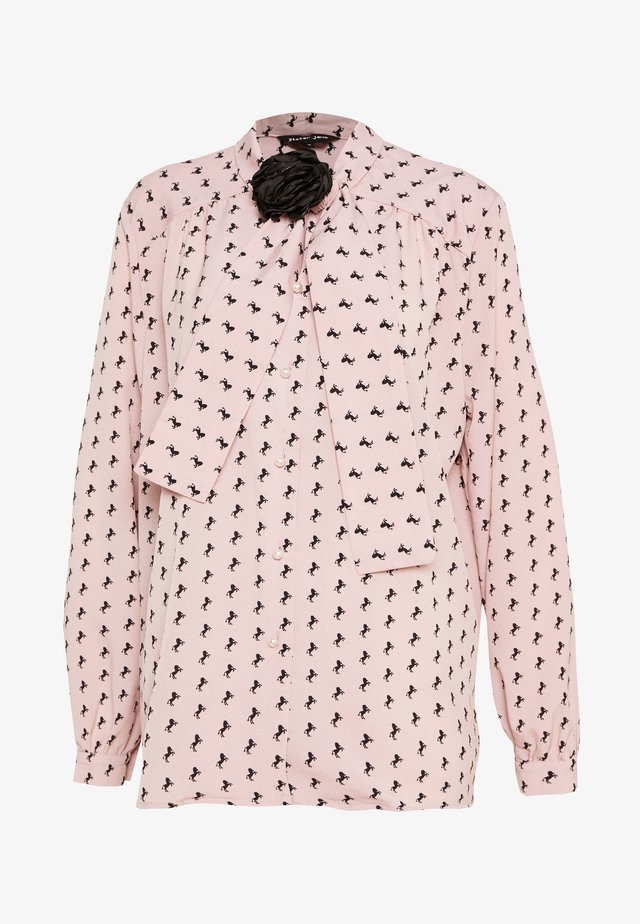 WILD HORSES BOW BLOUSE - Blus - pink