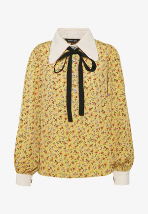 PRICKLY PEAR BOW BLOUSE - Blusa - yellow