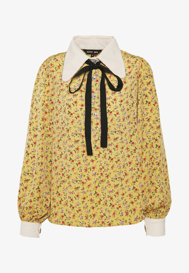 PRICKLY PEAR BOW BLOUSE - Blouse - yellow