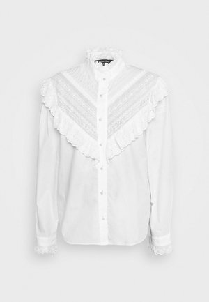 LAWN TRIMMED BLOUSE - Camicetta - ivory