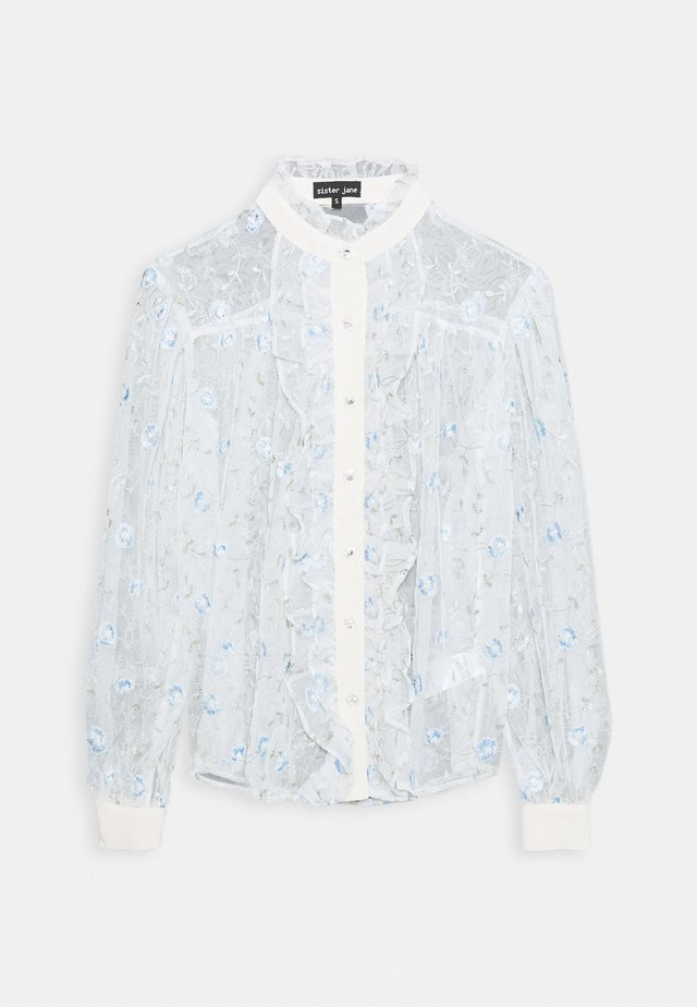 TOFFEE VINE EMBROIDERED  - Button-down blouse - blue