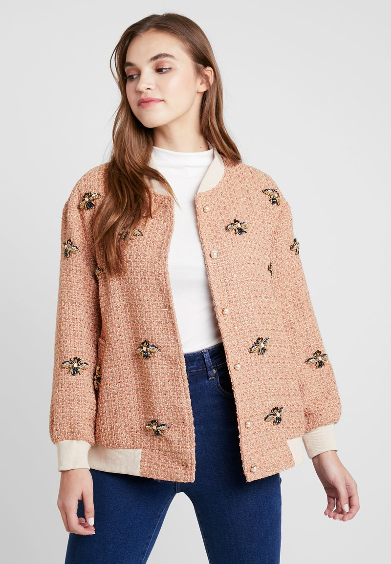 Sister Jane - TWEEDLE BEE - Bomber Jacket - coral